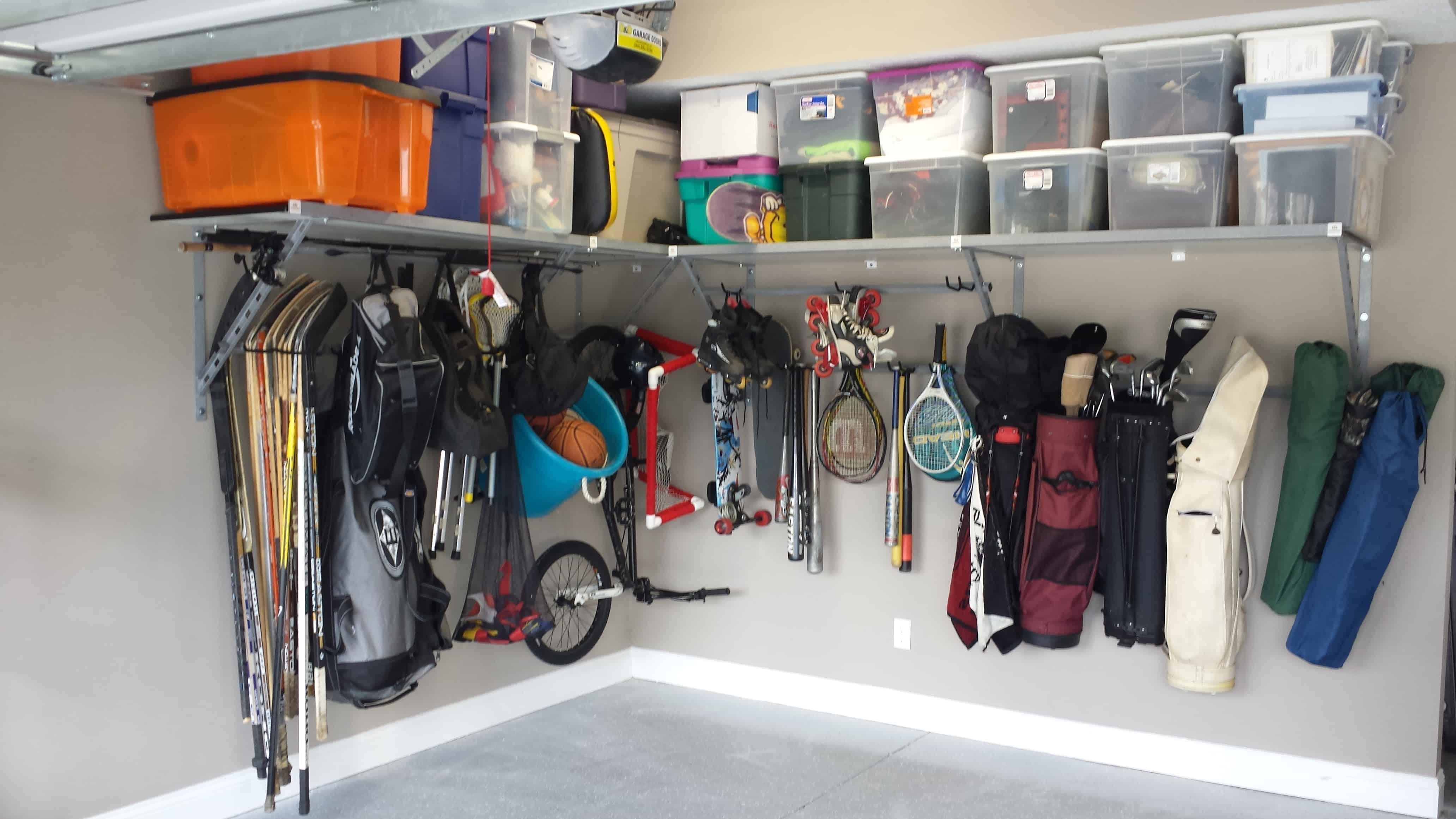 installing garage shelving