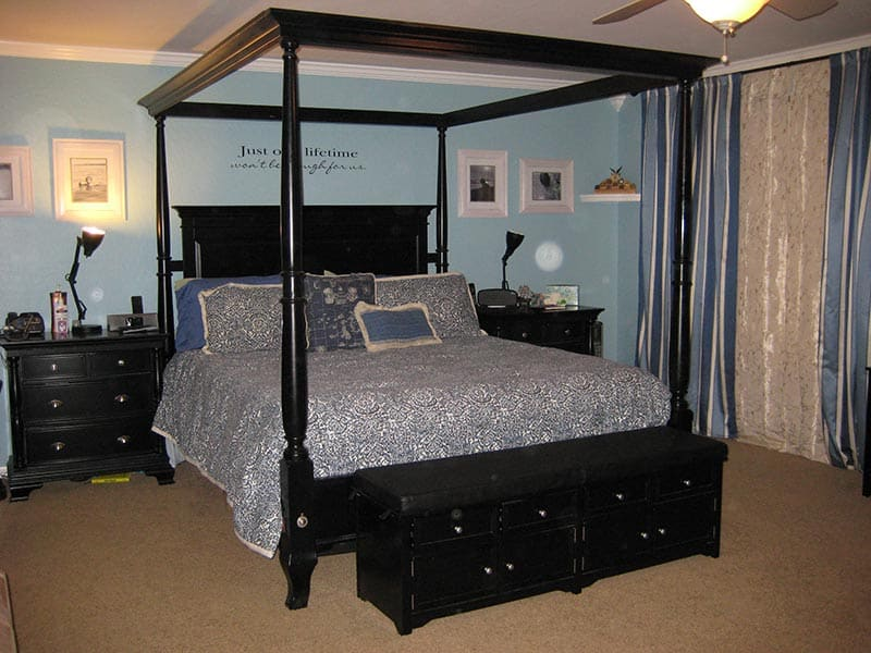 Organized Master Bedroom - After