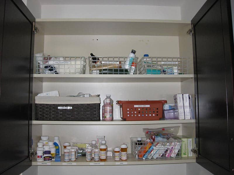 Organized Medicine Cabinet - After