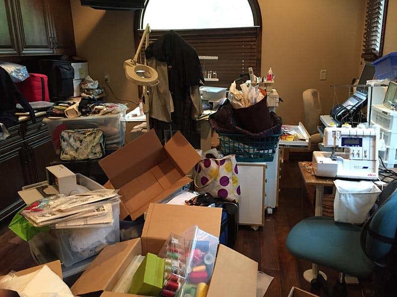 Unorganized Craft Room - Before