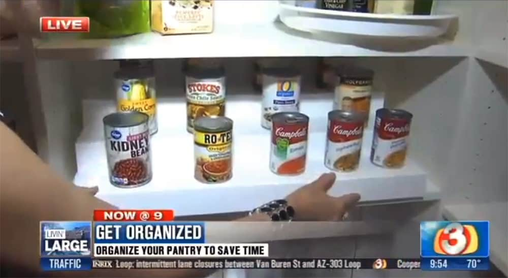 Stair stepper pantry organizer