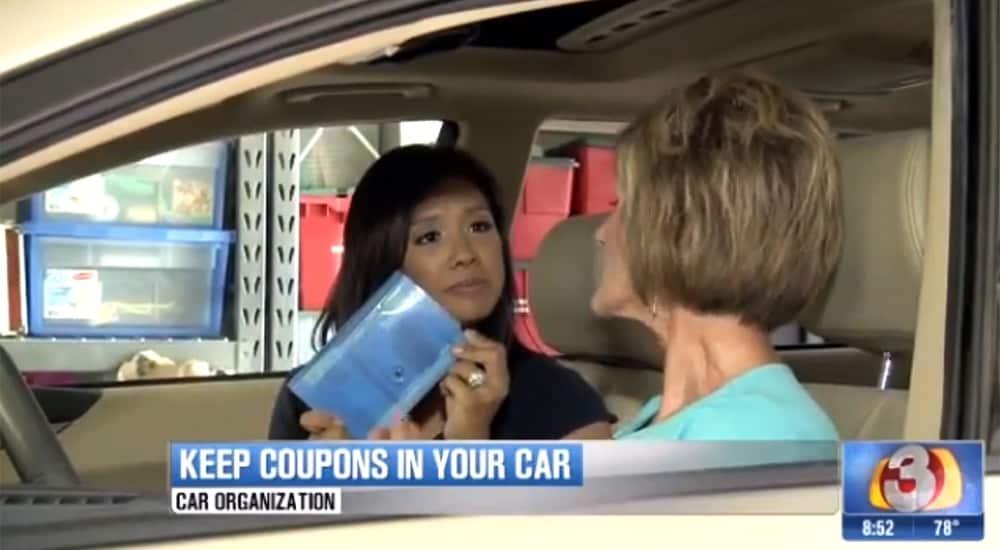Coupon organizer for your car