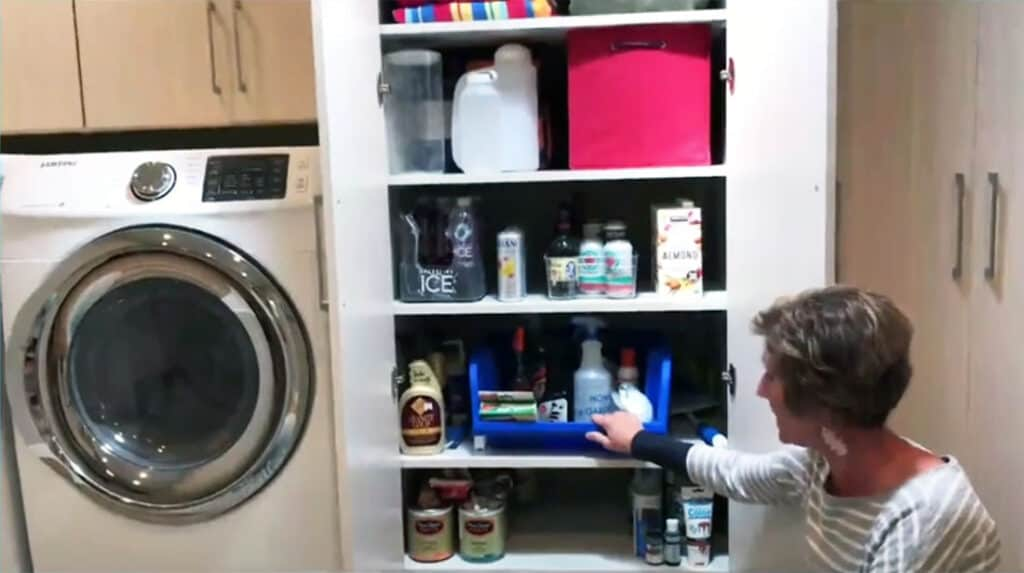 Cleaning and painting supplies organization